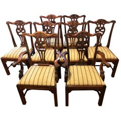 Eight Georgian Style Mahogany Dining Chairs