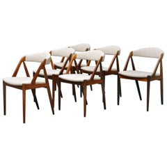 Rosewood Chairs by Kai Kristiansen, Set of 6 Chairs