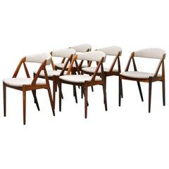 Palisander Stühle von Kai Kristiansen, Set aus 6 Stühlen