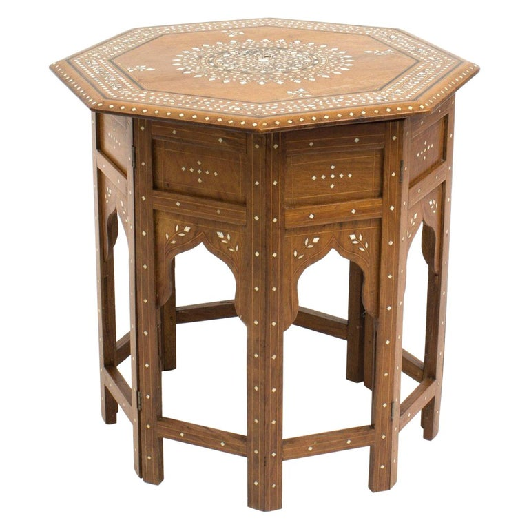 Anglo-Indian Octagonal Side Table For Sale