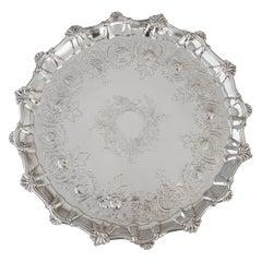 Very Large Georgian Silver Salver or Tray, London, 1810