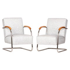 Tubular Steel Armchairs from Mücke-Melder, 1930s, Set of Two