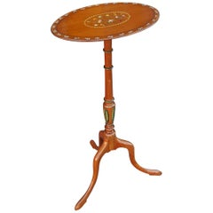 19th Century Painted Satinwood Side Table