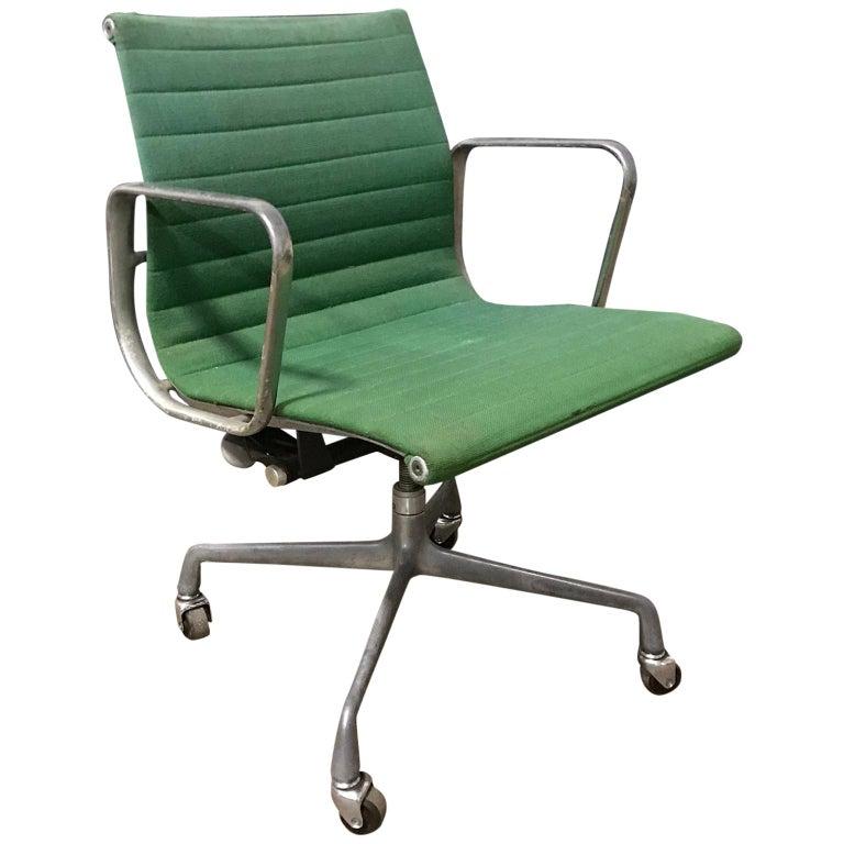 Ray & Charles Eames for Herman Miller Full Option Rare Green Desk Chair, 1958