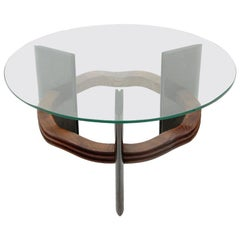 Italian Midcentury Coffee Table with Glass Top by Vittorio Valabrega, 1930s