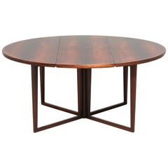 Very Rare Helge Sibast Dining Table in Rosewood, 1960s