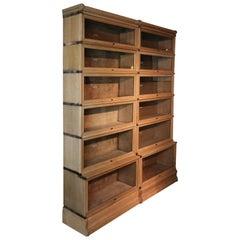 Antique Oak Globe Wernicke Bookcase in Perfect Condition