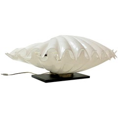 Rougier Giant Clam Lucite Lamp, 1970s