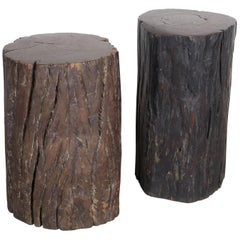 Primitive, Heavy Tree Stump Stools, Side Tables