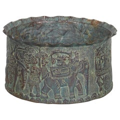 Handcrafted Antique Repousse Grain Container