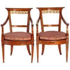 Pair of Italian Neoclassical Armchairs