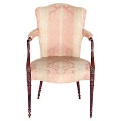 English Mahogany Upholstered Armchair
