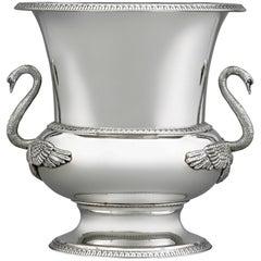 Buccellati Silver Swan Wine Cooler