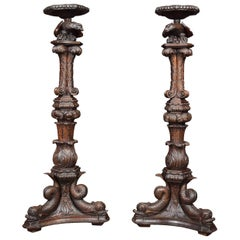 Pair of Jacobean Stands