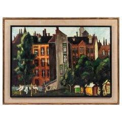 Vintage Oil Painting by Artist Jurgen Draeger 'Berlin'