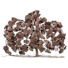 Vintage C. Hess Copper and Bronze Tree Sculpture