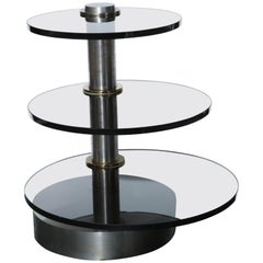 Gabriella Crespi Attributed Rotating Side Table