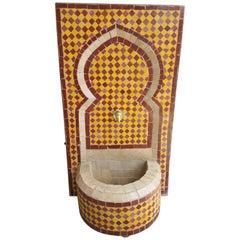 Mini Tri-Color Moroccan Mosaic Fountain, Marrakech 3