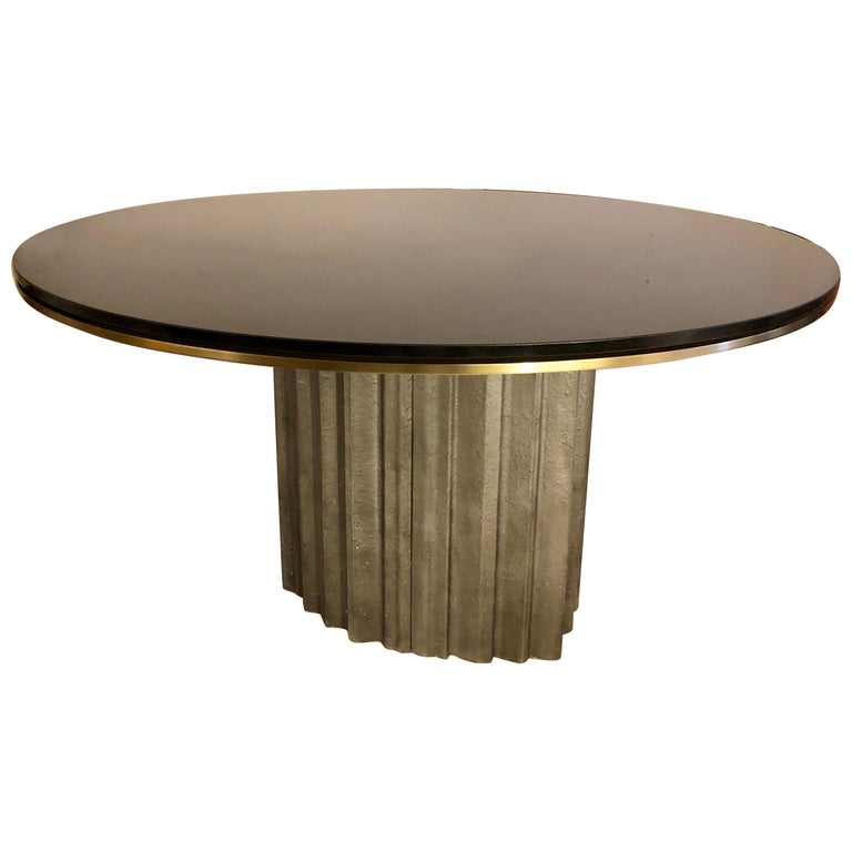 Chic Brutalist Dining/Centre Table by Max Papiri For Sale