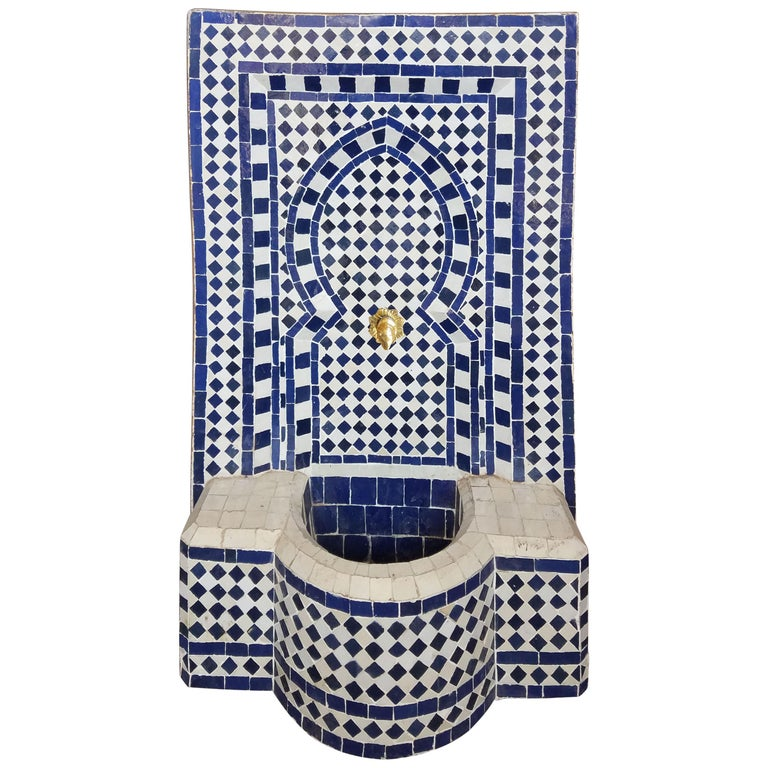 2 Color Moroccan Mosaic Mini Fountain, Marrakech 5