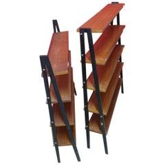 Pair of Small Scandinavian Style Teak Bookcases, 1960s