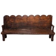 18th Century Rustic Dutch Chestnut Bench