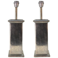 European Table Lamps in Tin, 20th Century