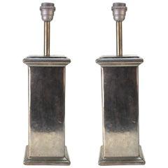 European Table Lamps in Tin, 20th Century