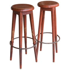 Pair of English Bar Stools