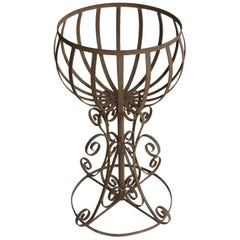 English Wrought Iron Planter on Stand