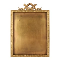 Antique French Classical Empire Ormolu Foliate Frame by B. Altman & Co NY