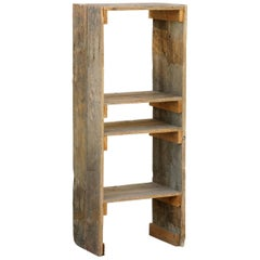 Antique Distressed Wooden Bookcase