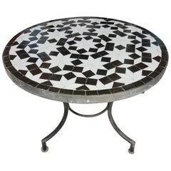 Black & White Moroccan Mosaic Side Table = Mar 1
