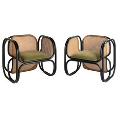 Pair of Jan Bocan Armchairs, Czech Republic, circa 1970