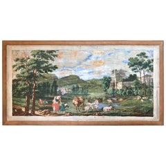 Early 19th Century Wallpaper American Fireboard