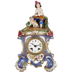 Antique Austrian Royal Vienna School Figural Hand Painted & Gilt Old Paris Clock