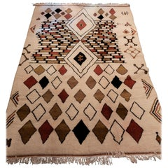 Moroccan Handwoven Rug Made with Natural Vegetable Dye and Wool