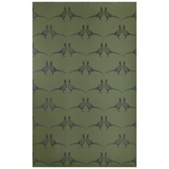 'Pheasant' Contemporary, Traditional Wallpaper in Camo Green