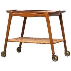 Johannes Andersen Midcentury Danish Teak Bar Cart