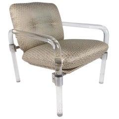Jeff Messerschmidt Lucite Armchair, Signed 1977