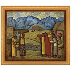 En Mexico, After Oil Painting by Spanish Colonial Artist Alfredo Martínez