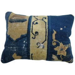Chinese Blue Rug Pillow