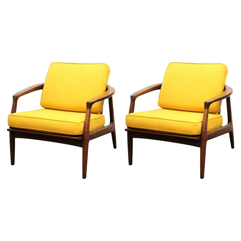 Milo Baughman for Thayer Coggin Mid-Century Modern Lounge Chairs For Sale