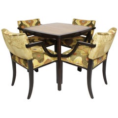 Rosewood and Mahogany 5-Piece Dinette Dining Set, Edward Wormley for Dunbar