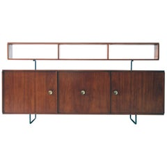 Joaquim Tenreiro 1954 Jacaranda Wood and Steel Credenza