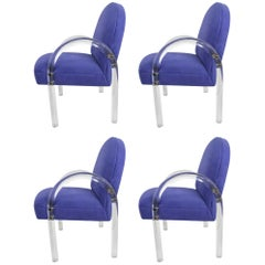 Set of Four Pace Collection Waterfall Dining Chairs