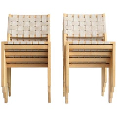 Set of Eight Alvar Aalto 615 Chairs for Artek, Finland