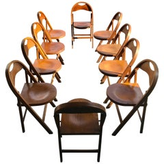 Set of 10 Bauhaus Folding Chairs by Thonet