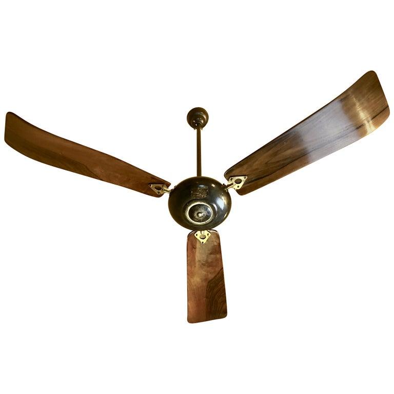 "Mid Century Modern Ceiling Fan: ""Ciclone Turbine"" Ceiling Revolving Fan By Marelli For"