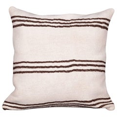 Cushion Cover or Pillow Fashioned from a Mid-20th Century Anatolian Hemp Kilim